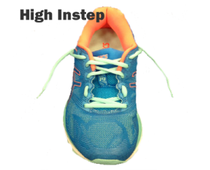 Running shoe lacing - High Instep