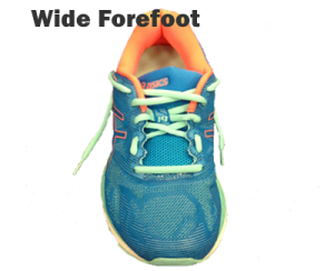 Running shoe lacing - Wide Forefoot